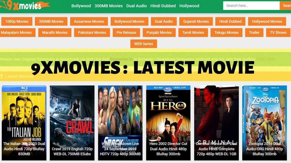9xmovies New 2019: Download South Indian Hindi Movies ...