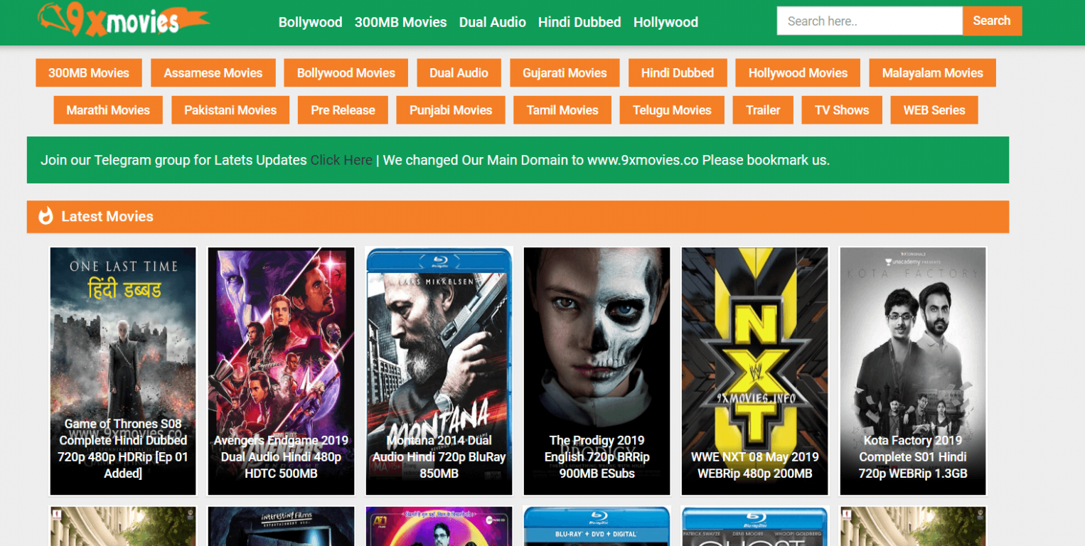 9xmovies Site 2019: New Bollywood, Hollywood, Tamil ...