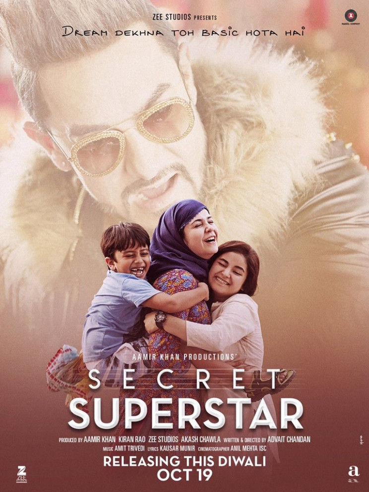 Aamir Khan's 'Secret Superstar' movie poster - Photos ...