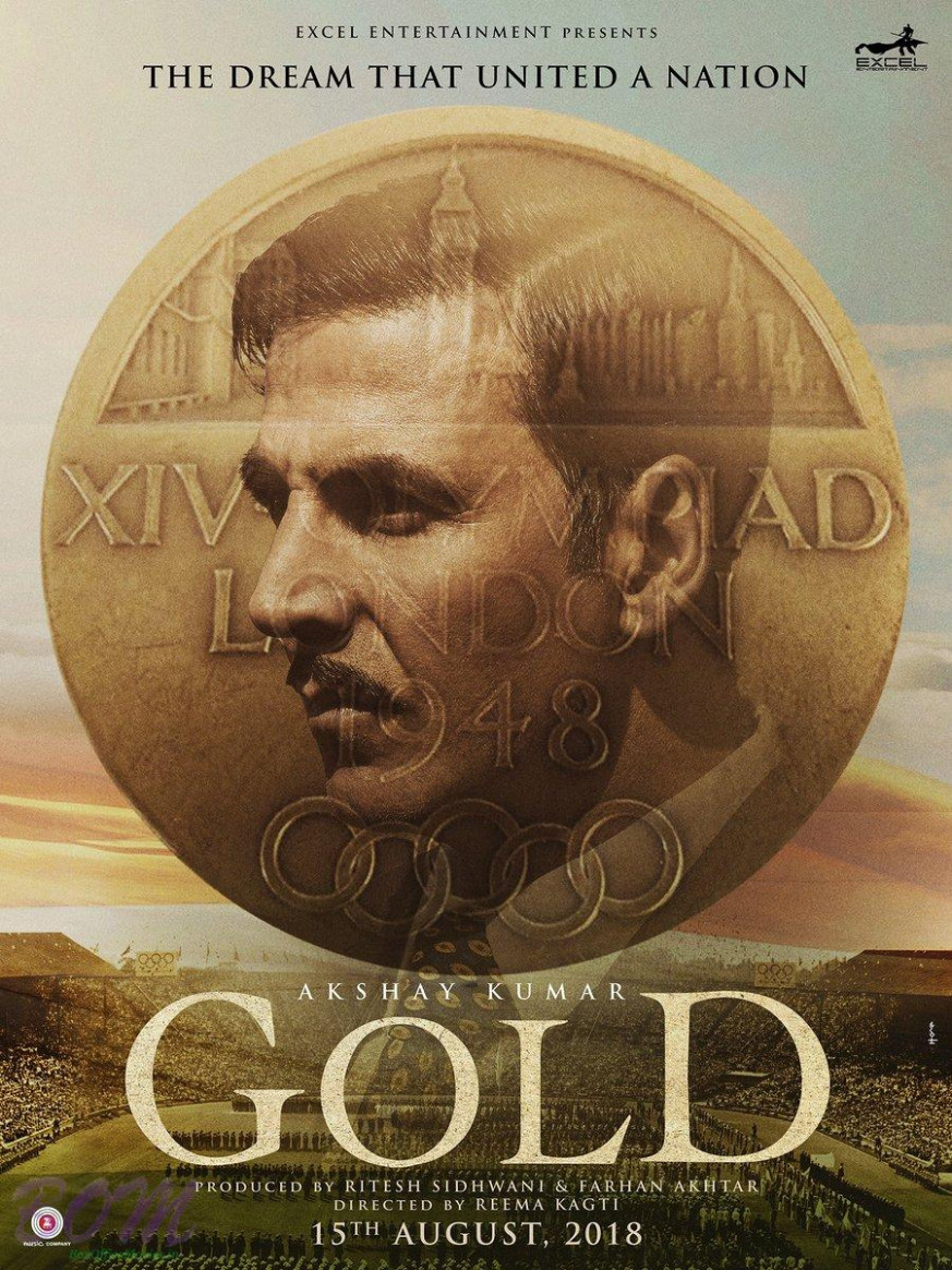 Akshay Kumar starrer Gold movie poster - Bollywood latest ...