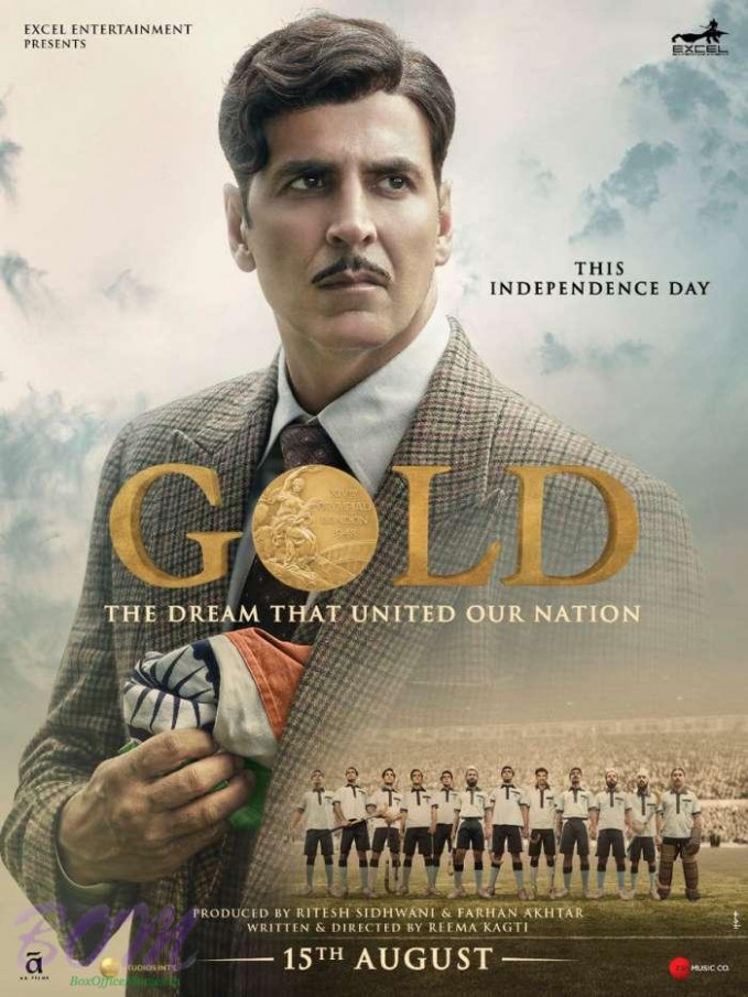 Akshay Kumar starrer Gold movie poster with Indian flag ...