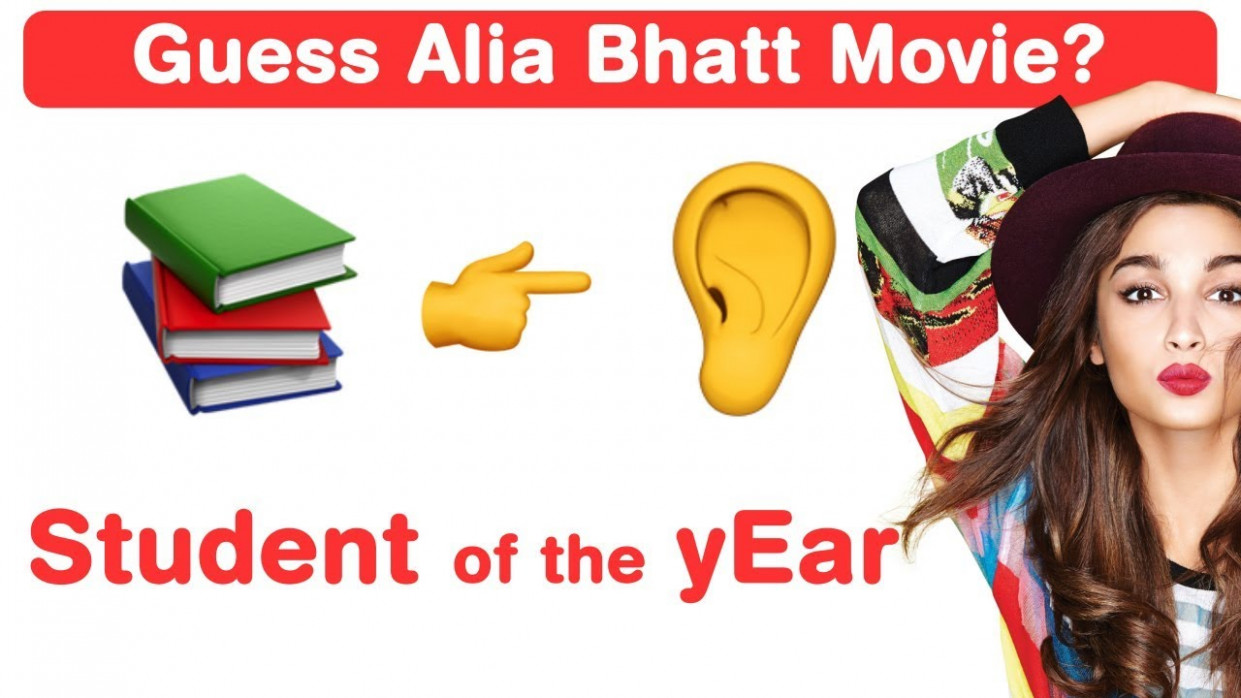 Alia Bhatt Emoji Challenge! Guess Bollywood Movies - YouTube