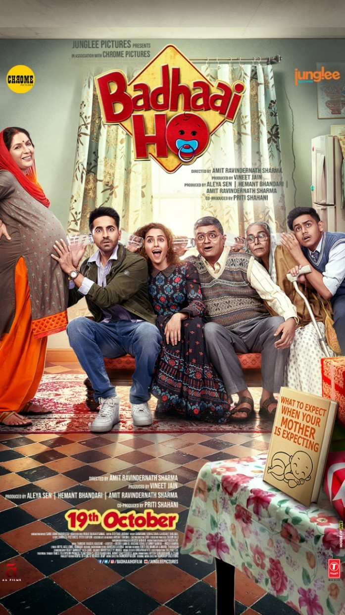 'Badhaai Ho' new poster: Ayushmann Khurrana and his family ...