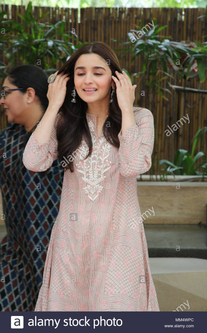Bollywood Actor Alia Bhatt During Stock Photos