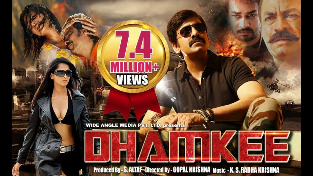 Dhamkee - Hindi Action Movie 2014 | Ravi Teja, Anushka ...