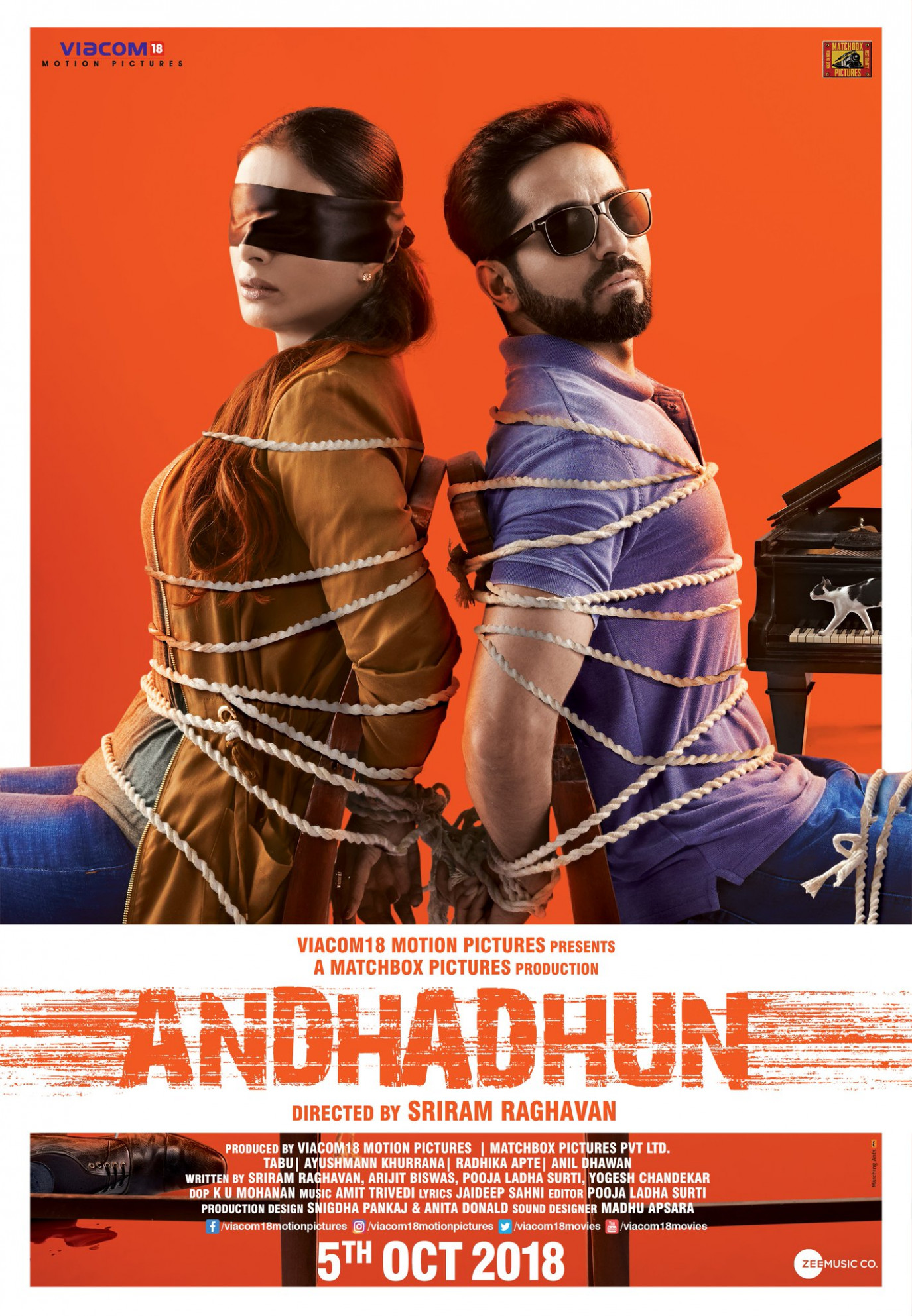 Download AndhaDhun (2018) Movie HD Official Poster 1 ...