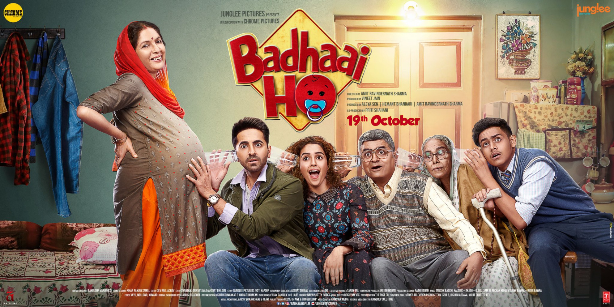 Download Badhaai Ho (2018) Movie HD Official Poster 5 ...