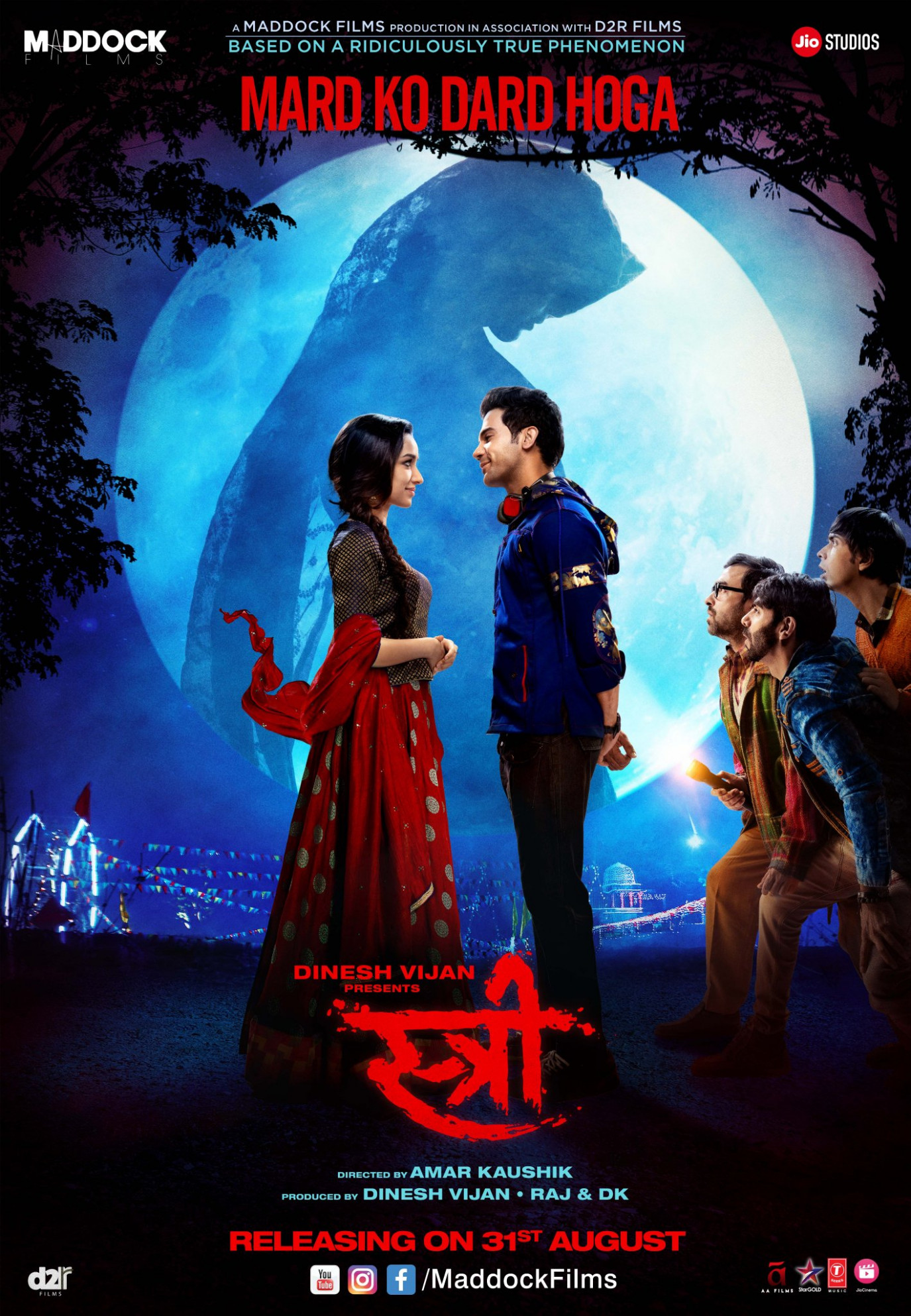 Download Stree (2018) Movie HD Official Poster 2 ...