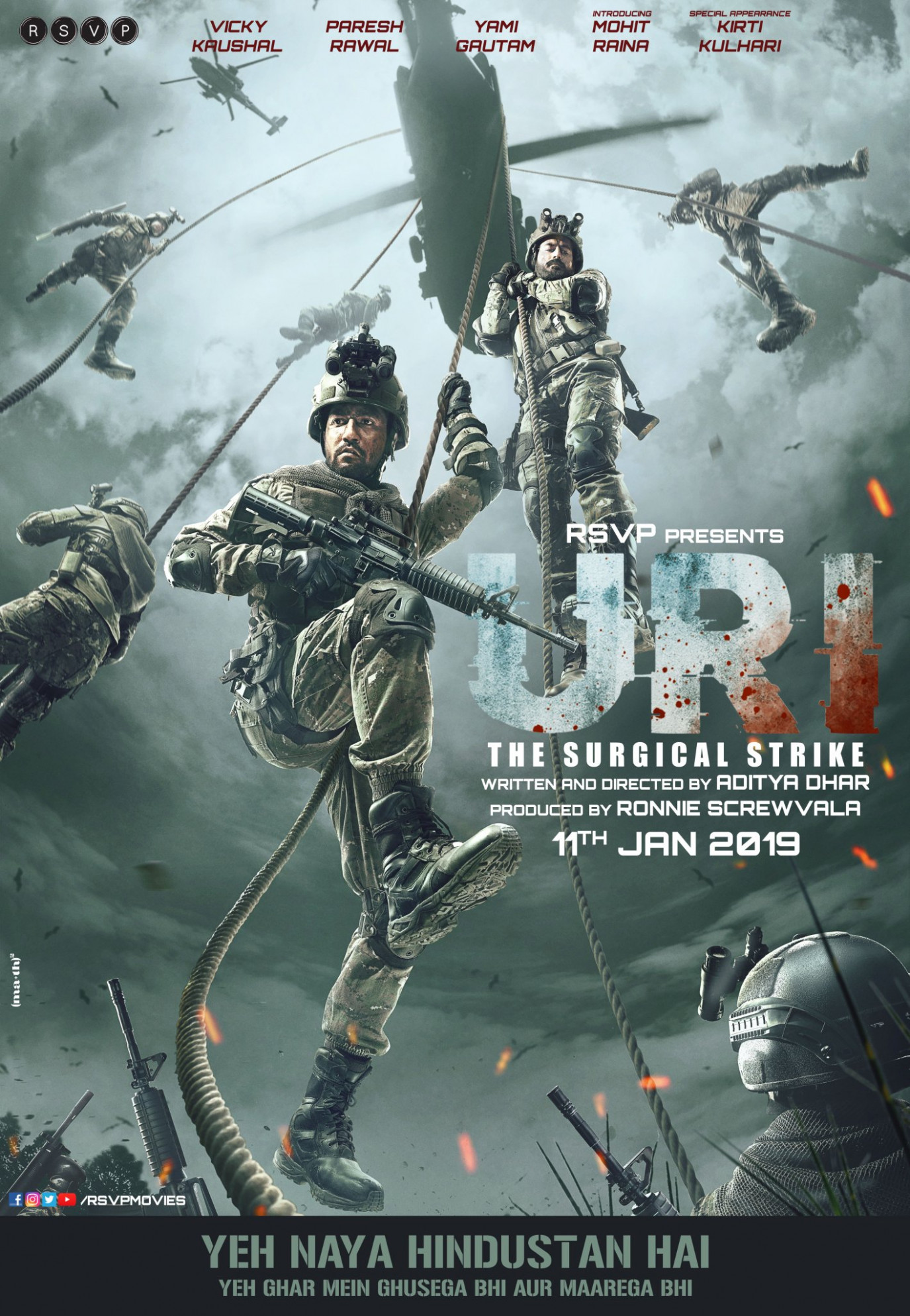 Download Uri: The Surgical Strike (2019) Movie HD Official ...