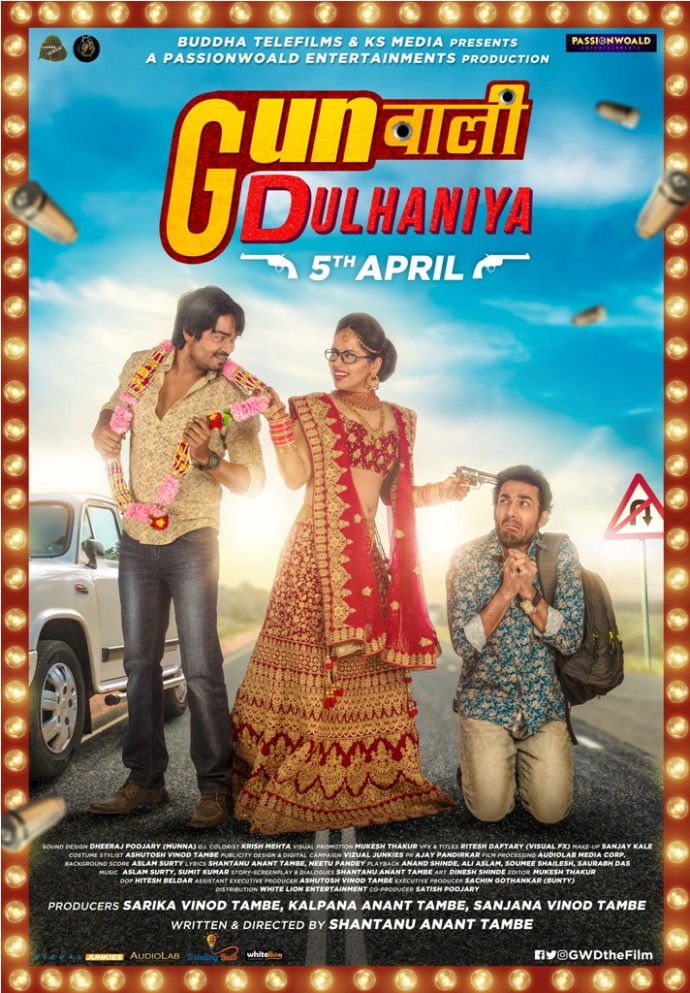 First Poster of Upcoming Rom-Com Bollywood Movie 'Gunwali ...
