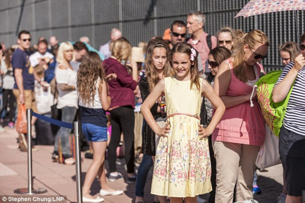Girls queue to audition for Modesty role in J.K. Rowling's ...