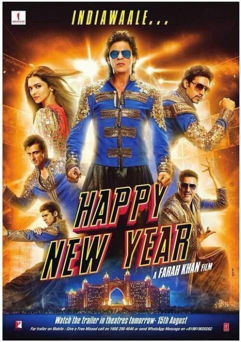 Happy New Year (2014) Hindi Full Movie 400MB DVDScr ...