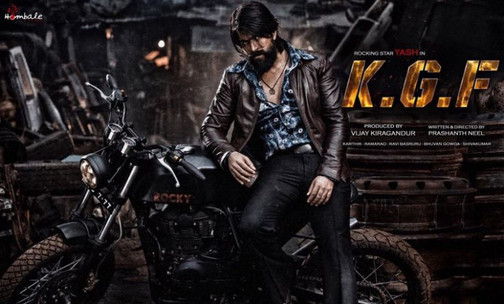 Here is the #FirstLook Poster of #Yash 's New movie #KGF ...