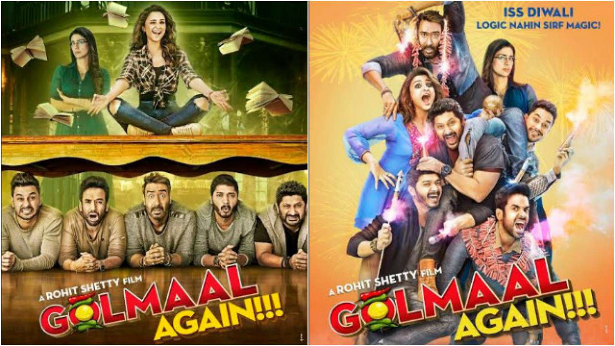 In Pics: 'Golmaal Again' new posters promise double dose ...