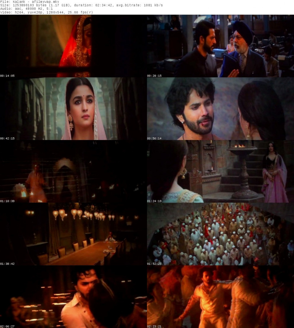 Kalank (2019) Hindi Movie Download Filmywap Kalank ...