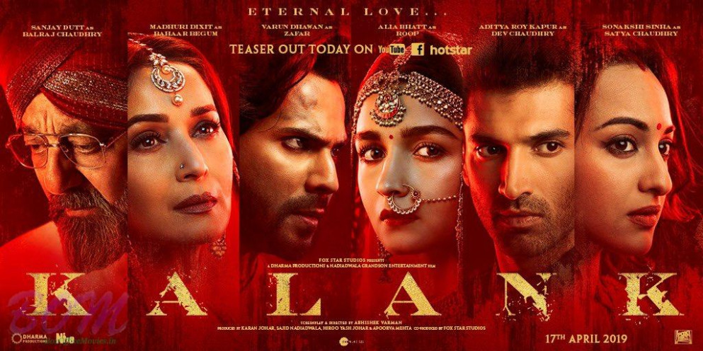 KALANK Movie Teaser With New Poster - Bollywood latest ...