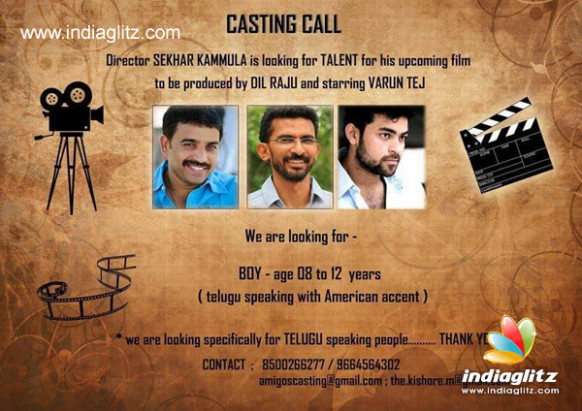 Kammula's casting call to child artiste - Telugu Movie ...