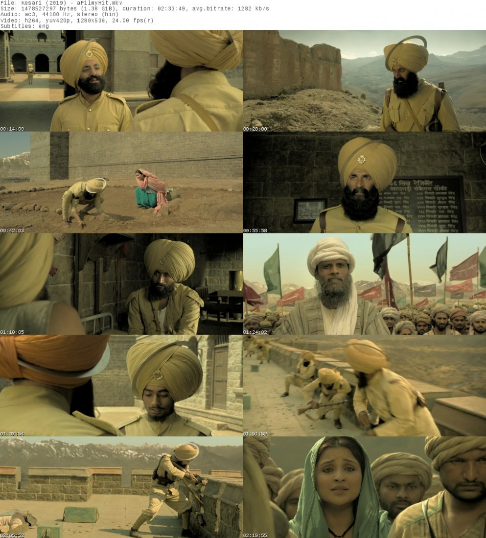 Kesari (2019) Hindi Full Movie Download Filmyzilla Kesari ...
