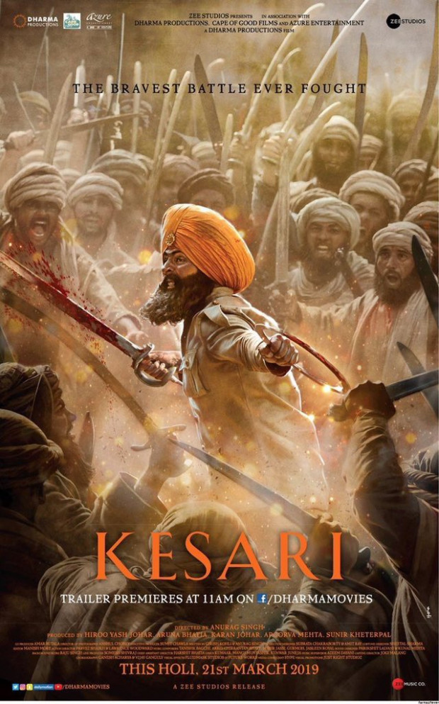 Kesari Trailer out at 11 AM, Check the New Posters
