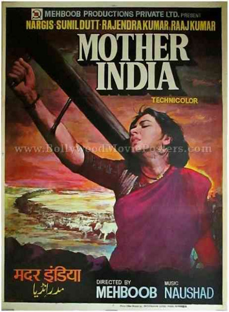 Mother India original hand painted Bollywood movie film ...