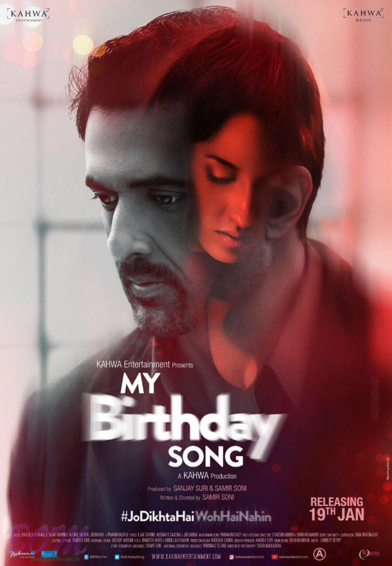 My Birthday Song movie first look poster - Bollywood ...