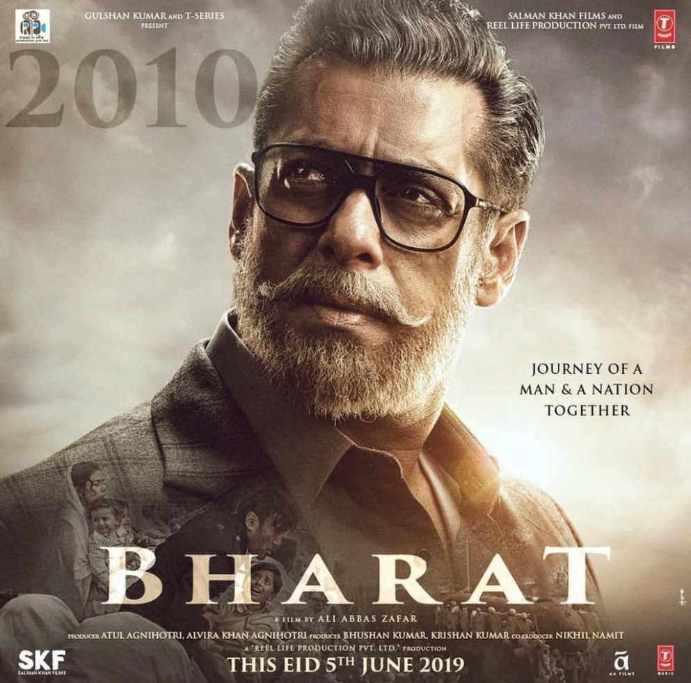 "Poster of bollywood movie ""Bharat"" 2019 – beParlak"