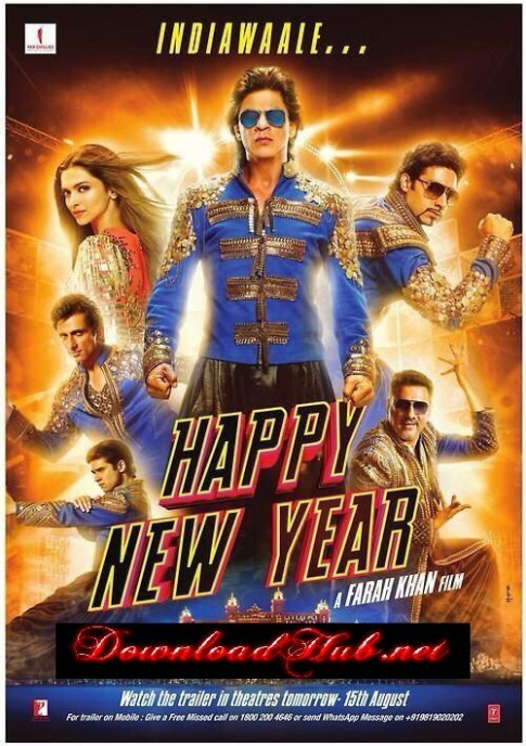 Poster Of Bollywood Movie Happy New Year (2014) 300MB ...