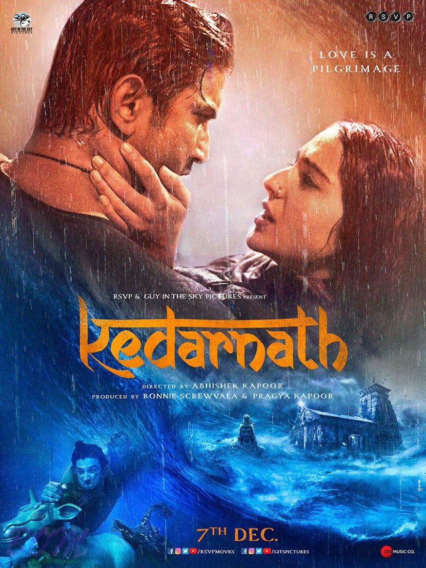 Poster of Kedarnath movie stars Sushant Singh Rajput and ...