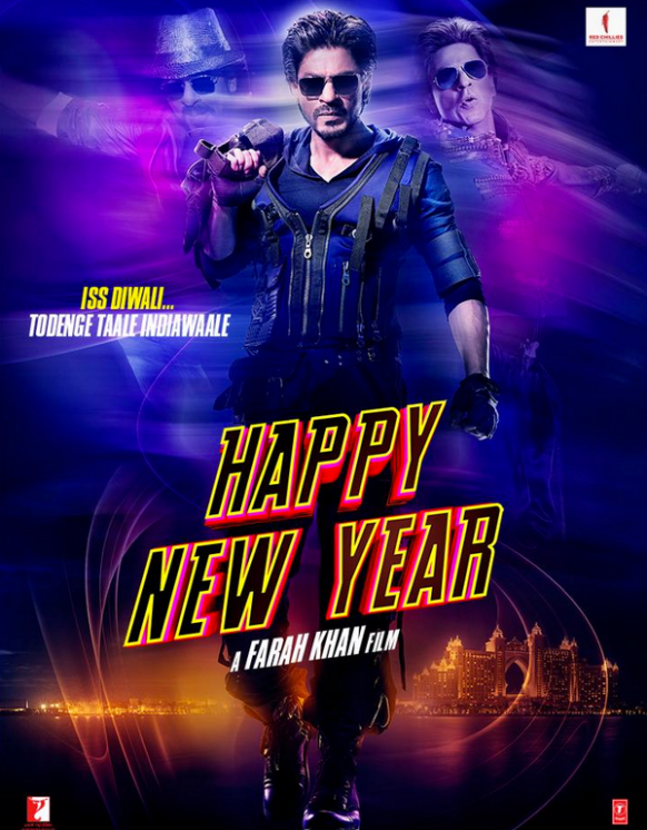 Shahrukh Khan in another poster of movie Happy New Year ...