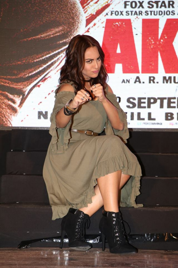 Sonakshi Sinha looking chubby but kick ass at Akira her ...