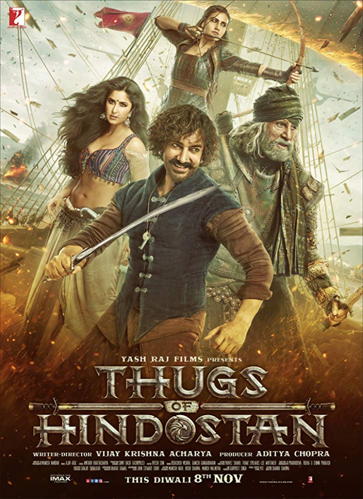 Thugs of Hindostan 2018 Hindi Movie 480p HDRip 500Mb ESub x264