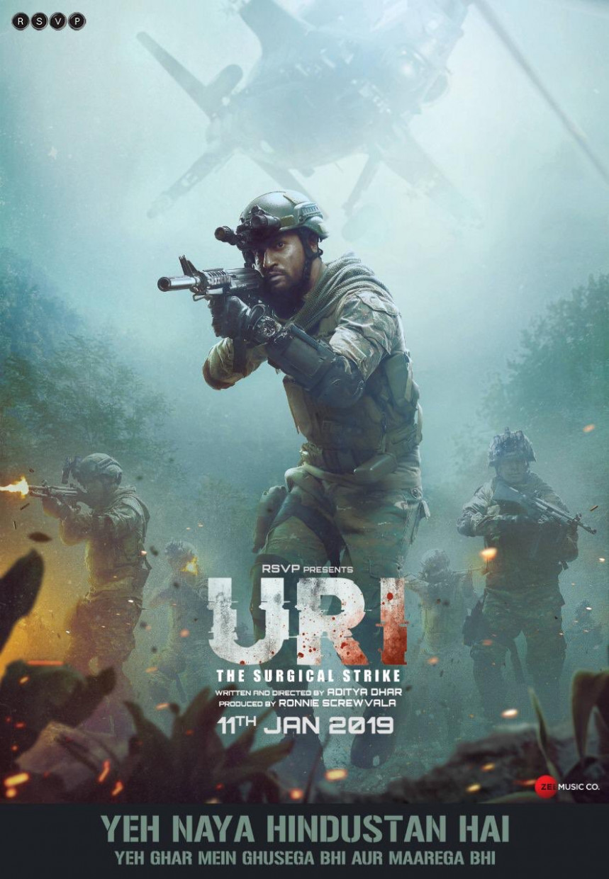 URI - The Surgical Strike Movie HD Poster Wallpaper ...