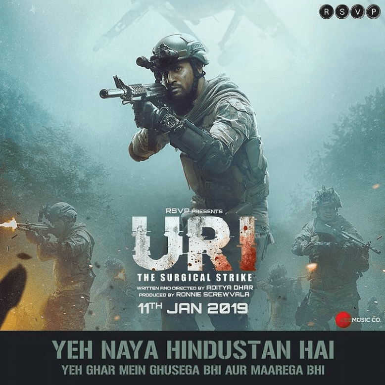 Uri - The Surgical Strike Movie Release Date Poster ...