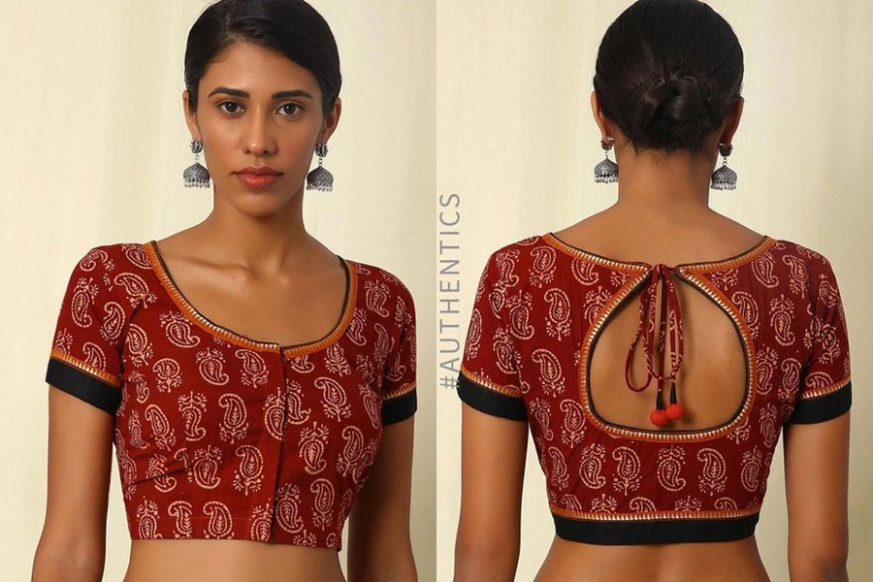 10 Must Try Simple Saree Blouse (Front and Back) Designs
