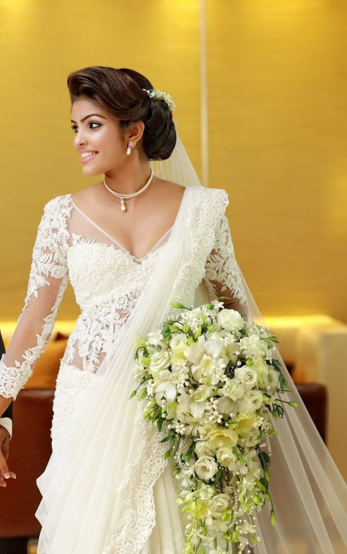 1000+ images about white wedding sarees on Pinterest