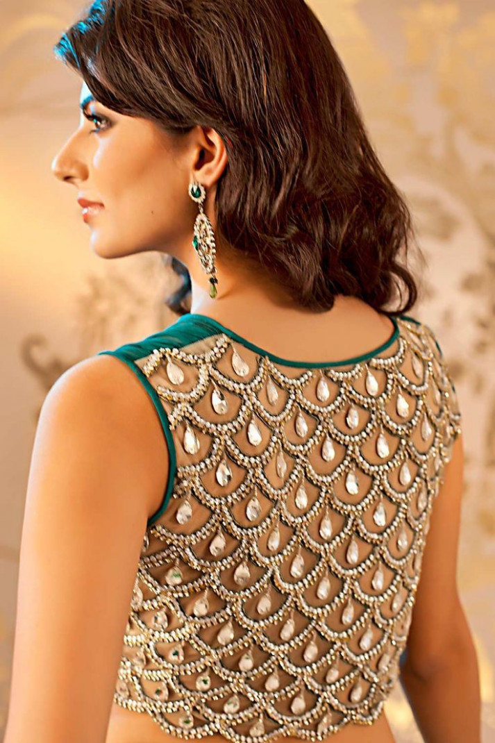 101 Stunning Saree Blouse Back Neck Designs  Bling Sparkle