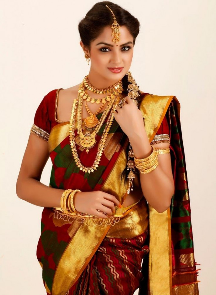 12 best South Indian Bridal Reception Sarees images on