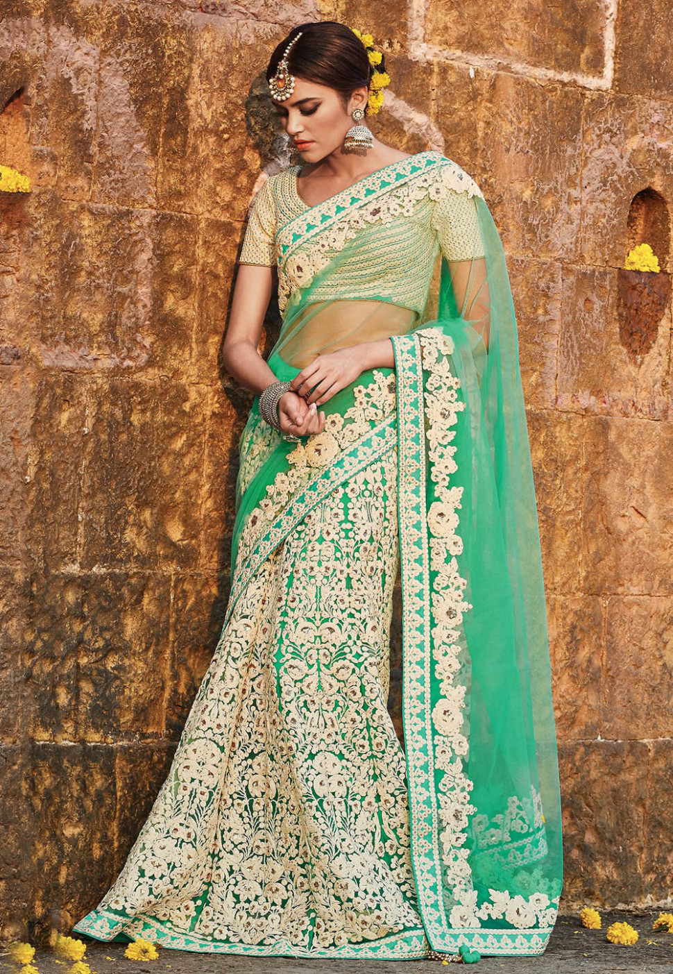 12 Indian Bridal Lehenga Style Sarees For The Modern