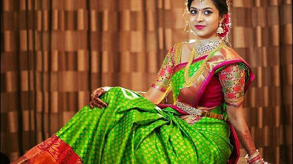 120 Gorgeous South Indian Bridal Saree Designs - YouTube