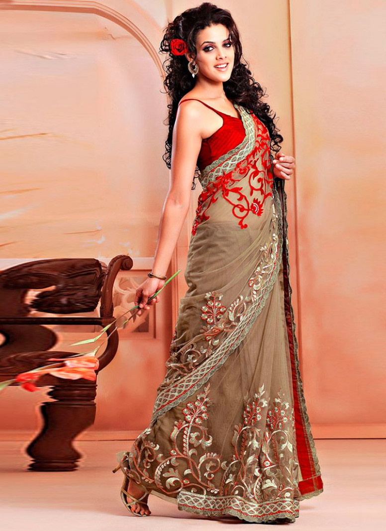 15 Best Embroidery Sarees With Photos  Styles At Life