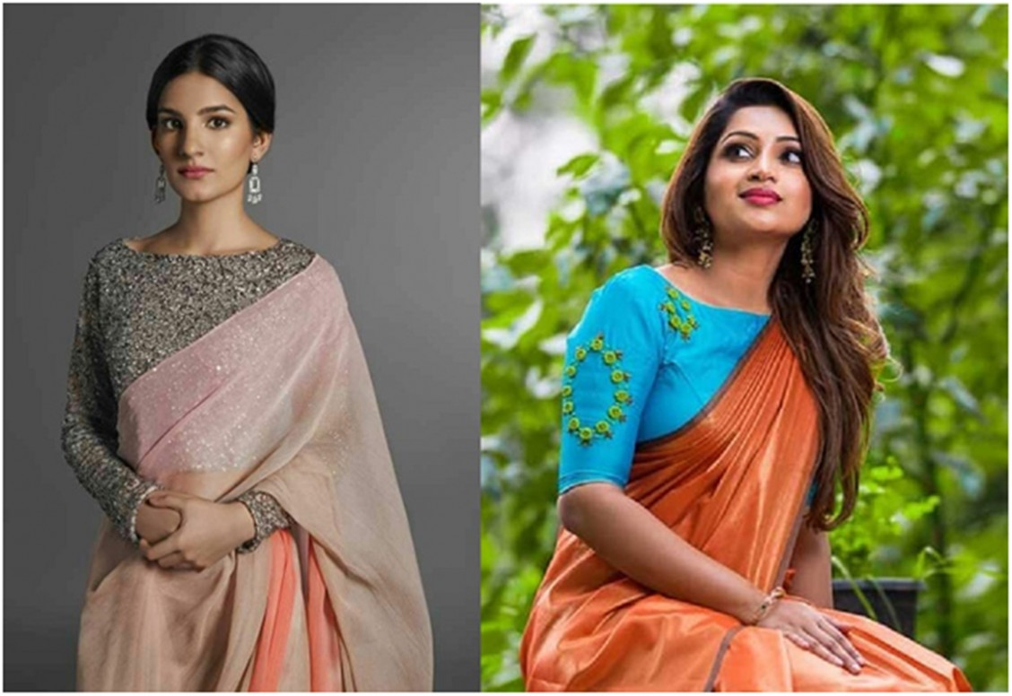 15 types of Designer Blouses for Plain Sarees