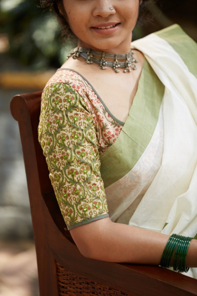 18 Cotton Saree Blouse Designs for a Stylish Look! • Keep