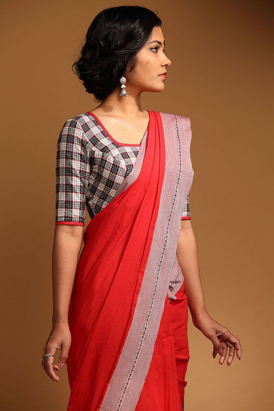 18 Simple Blouse Designs for Cotton Sarees to Try this