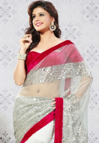 20 Designer Style Net Sarees with Celebrity Touch  Styles