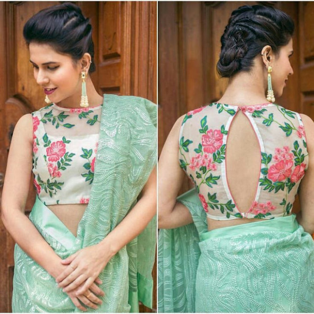 20+ Latest Floral Printed Saree Blouse Designs to try this