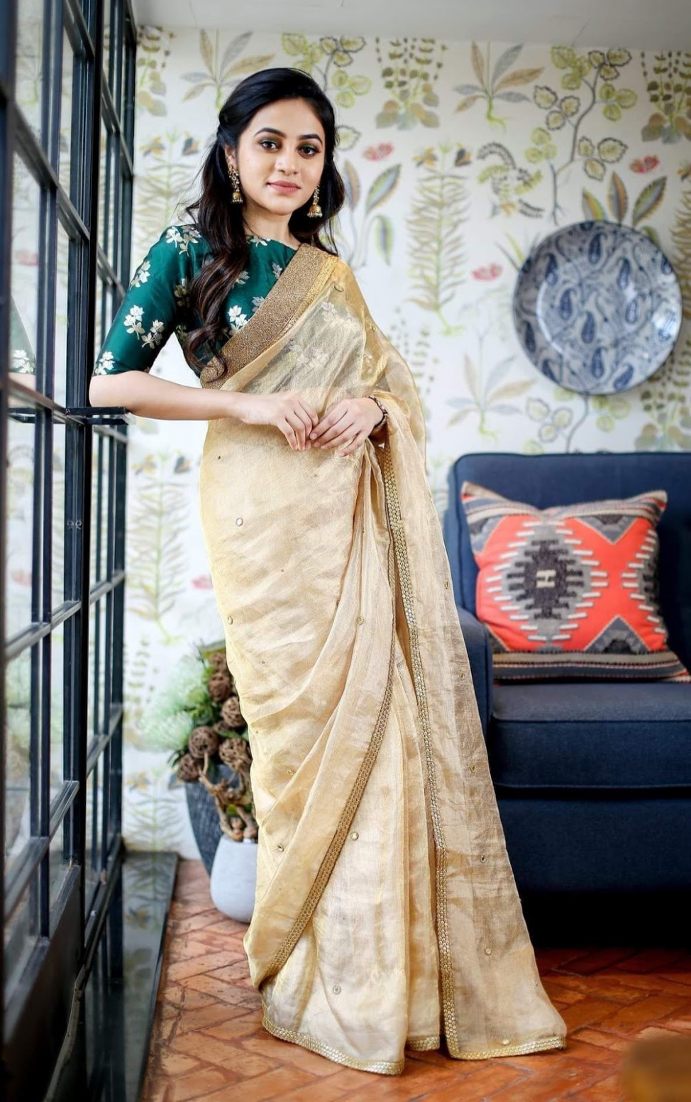 21 Trendy Green Kerala Saree Blouse Designs to try in 2019