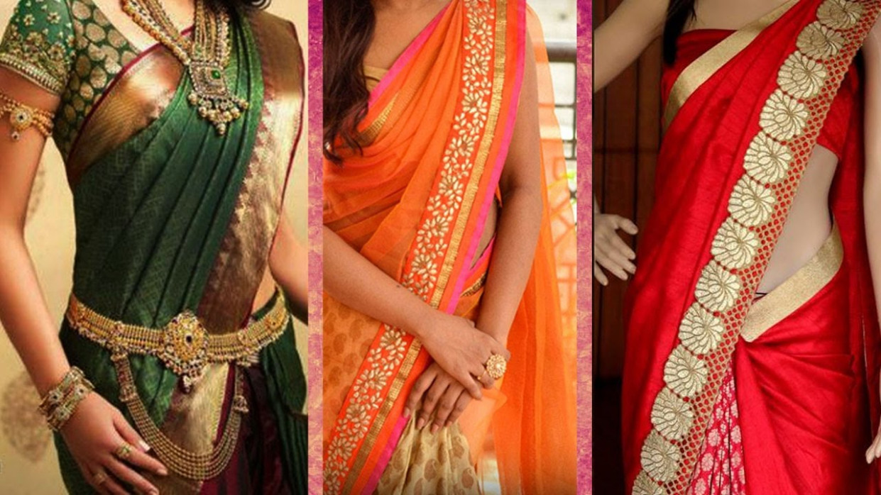 3 Different Ways of Wearing Saree to Look Slim with
