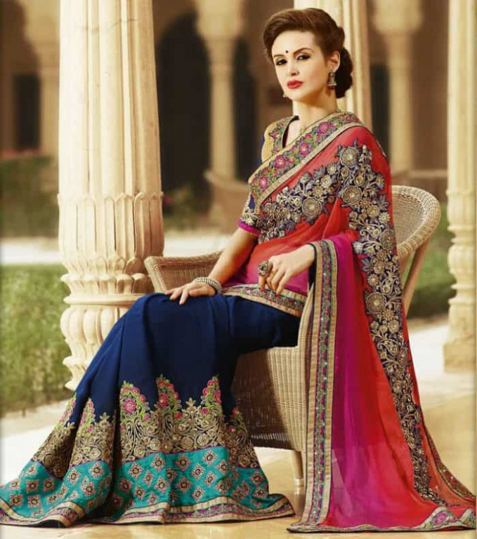 30 Latest Evening Sarees Designs 2019 – SheIdeas