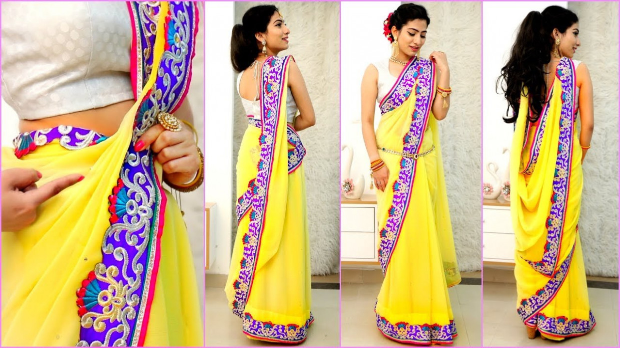 4 NEW Saree Draping Styles - How To Wear Sari Perfectly to