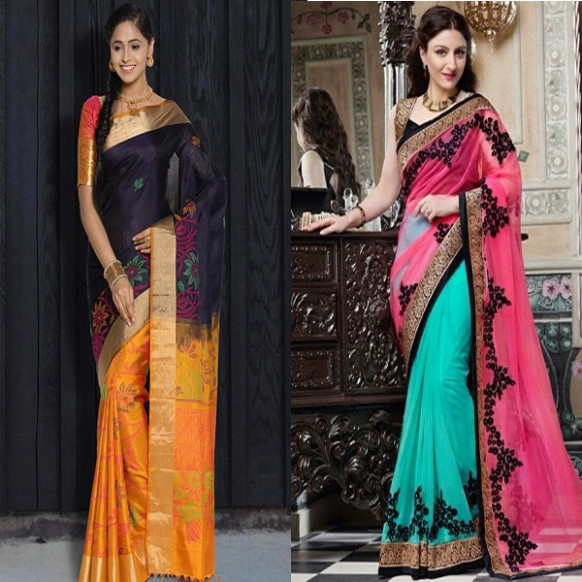 40 Best Half and Half Sarees In Various Combinations